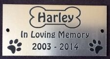 Personalised Pet Dog Memorial Plaque - Various Colours