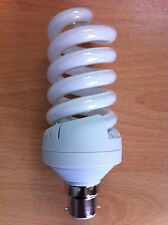 30w watt BC B22 Push In Energy Saving Spiral CFL Daylight 6400k Bulb x 4
