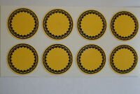 "12  Yellow STICKERS 1"" CROWN GREEN BOWLS LAWN BOWLS FLATGREEN  INDOOR BOWLS"