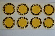 "12  Yellow STICKERS 1"" CROWN GREEN BOWLS LAWN BOWLS FLATGREEN  INDOOR BOWLS"