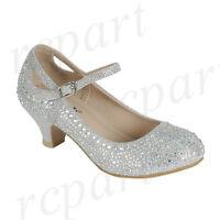 New Girl S Kids Beads Formal Dress Wedding Shoes Gold Rhinestones