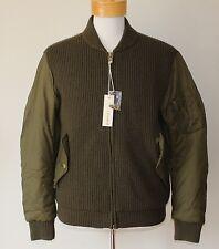 $298 NEW Diesel Co Jacket Full Zip Wool Knit Men X-LARGE XL Military Army Green