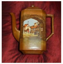 Lancaster & Sons (L & Sons) Hanley  SQUARE COFFEE POT with COACH HOUSE SCENE