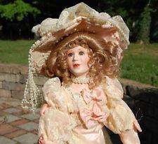 "MARYSE NICOLE Franklin Mint Heirloom Marguerite Doll porcelain 21"" Box Excellent"