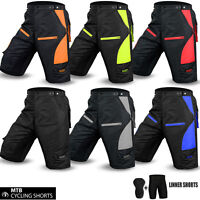 Cycling MTB Short Off Road Cycle Bicyle Coolmax Padded Liner Shorts