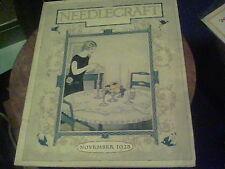 Nov. 1925 Needlecraft, Crochet, easy dress for a beginner,  knitted socks eb