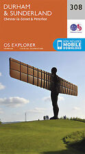 Durham and Sunderland Explorer Map 308 Ordnance Survey
