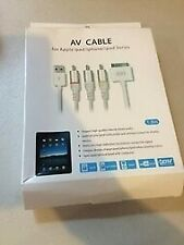 AV Cable For  for ipad/for iphone 4 30pin
