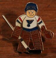 St. Louis Blues Vintage 80s Goalie Lapel Pin NHL Hockey Hat Lil Sports Brat