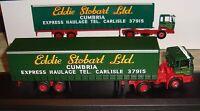 """EDDIE STOBART - DAF F2200 CURTAINSIDE TRAILER TRUCK - """"TWIGGY""""   -1:76 - BOXED"""