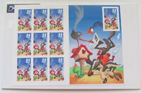 USPS Coyote Road Runner Complete Sheet 2000 33 Cent Stamps Set of 10