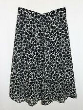 JAEGER Brand Black White A Line Midi Skirt Size 16 BNWT #TM77