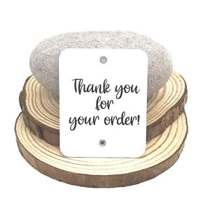 Thank You For Your Order Labels/Tags/Cards With Crystal Embellishments