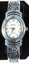 Silver Cuff Watch, Brighton Beach Oval Face-Free Xtra Battery!
