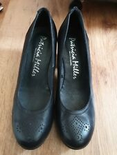 Patricia Miller Court Shoes Black Size 7 Size 40 Wedge Heel Leather