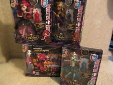 MONSTER HIGH 13 WISHES PARTY LOUNGE & 4 DOLL COMPLETE SET BRAND NEW HTF