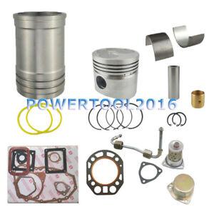 Cylinder Liner & Piston Set & Rod Bearing & Full Gasket for R180 Diesel Engine