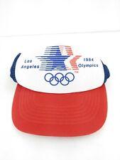 VTG USA 1984 Los Angeles Olympics Mesh Snap Back Baseball Cap Hat