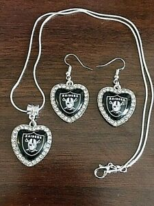 RAIDERS Necklace and Earrings Set FREE !!! SHIPPING !!!