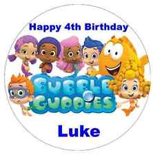 Bubble Guppies Personalised Wafer Paper Topper For Large Cake Various Sizes 7.5""