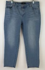 Talbots Petites Sz 16 P Slim Ankle Lt Wash Jeans Cropped Flawless Five Pocket