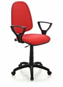 Poltrona Torino rossa sedia operativa per ufficio con pistone a gas braccioli se