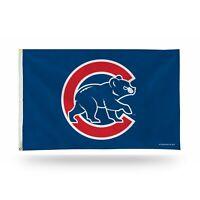 3x5 outdoor Flag - MLB Baseball - Chicago Cubs - walking bear blue