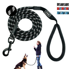 6ft Nylon Dog Leash Mountain Climbing Rope Reflective Walking Leads with Handle