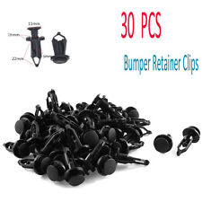 Lots 30PCS Car Vehicle Parts Black Front & Rear Bumper Clip Retainer Fastener