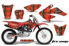 Honda Graphic Kit AMR Racing Bike Decal CRF 70 Decal MX Parts 2004-2013 FIRE CAM