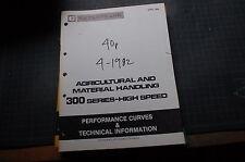 CATERPILLAR D348 D349 ENGINE GENERATOR Performance Curve Manual service repair