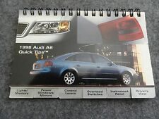 1998 Audi A6 Quick Reference Guide Owners Manual Supplement