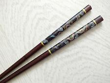 Japonais Marron Noir Dragon baguettes cheveux Bâton chinois Dîner Fête D'Anniversaire