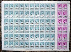 TRISTAN DA CUNHA 1960 - 1d & 1½d Fish SG29/30 Complete Sheets of 60 DK800