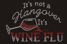 Wine Rhinestone iron on Bling Transfer DIY Hot fix Applique It's Wineflu