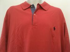 Polo Ralph Lauren Men's Big and Tall Classic Fit Jersey Polo Montauk Red XLT NWT