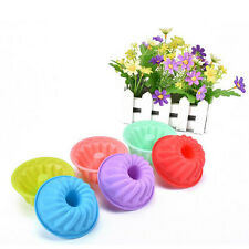 5Pcs Spiral Shape Bundt Cake Pan Bread Chocolate Bakeware Silicone Mold New