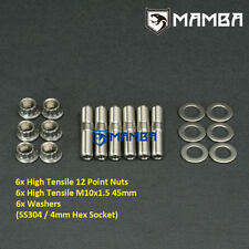 SS304 Turbo Stud Kit For Nissan VL RB30 RB20 RB25 GTR GTS S15 Silvia 180SX 300ZX