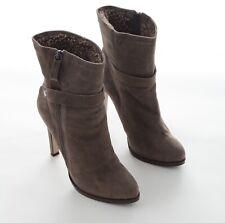 Pura Lopez Damen Schuhe Stiefeletten Lammfell Leder Gr.37 Braun NEU