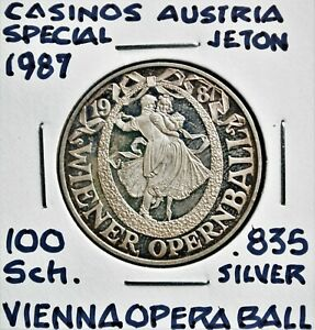 1987 Casinos Austria 100 Schilling Special Token - Vienna Opera Ball