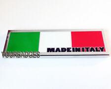 Nuevo Esmalte CROMO hecha en Italia Bandera Italiana coche insignia FÍAT Alfa