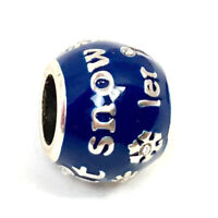 Brighton Let It Snow Bead, J99972, Silver/Blue Enamel, New