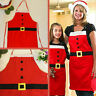 Unisex Christmas Apron Kid Adult Dinner BBQ Xmas Santa Cooking Chef Aprons Gift