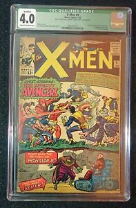 X-men #9 CGC 4.0 Qualified - page 16 missing does not affect story 1965