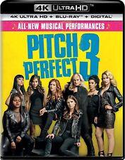 Pitch Perfect 3  (4K UHD + Blu-Ray + Digital) 2018 w/ Slip Cover **SEALED** NEW