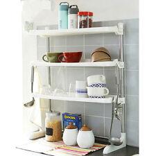 Stainless Pillar Folding Stand Dish Drying Rack 3 Shelf Sink Kitchen Organizer