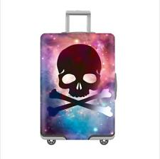 Luggage Cover Vintage Day Of The Dead Skull Roses Protective Travel Trunk Case Elastic Luggage Suitcase Protector Cover