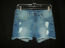 c09a65e4c Size 6 H & M Women's Sexy Destroyed Frayed Holes Fringed Denim Blue Jeans  Shorts