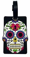 White Sugar Skull Day Of The Dead Luggage or Bag Tag