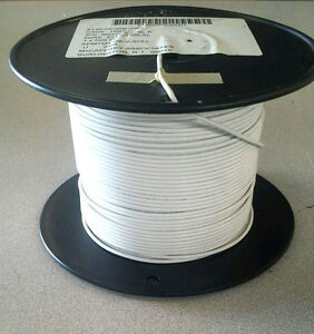 ( 100 FT )  M22759/8-18-9 ( White ) Aircraft Wire (18Awg) 19C/30Awg 600V
